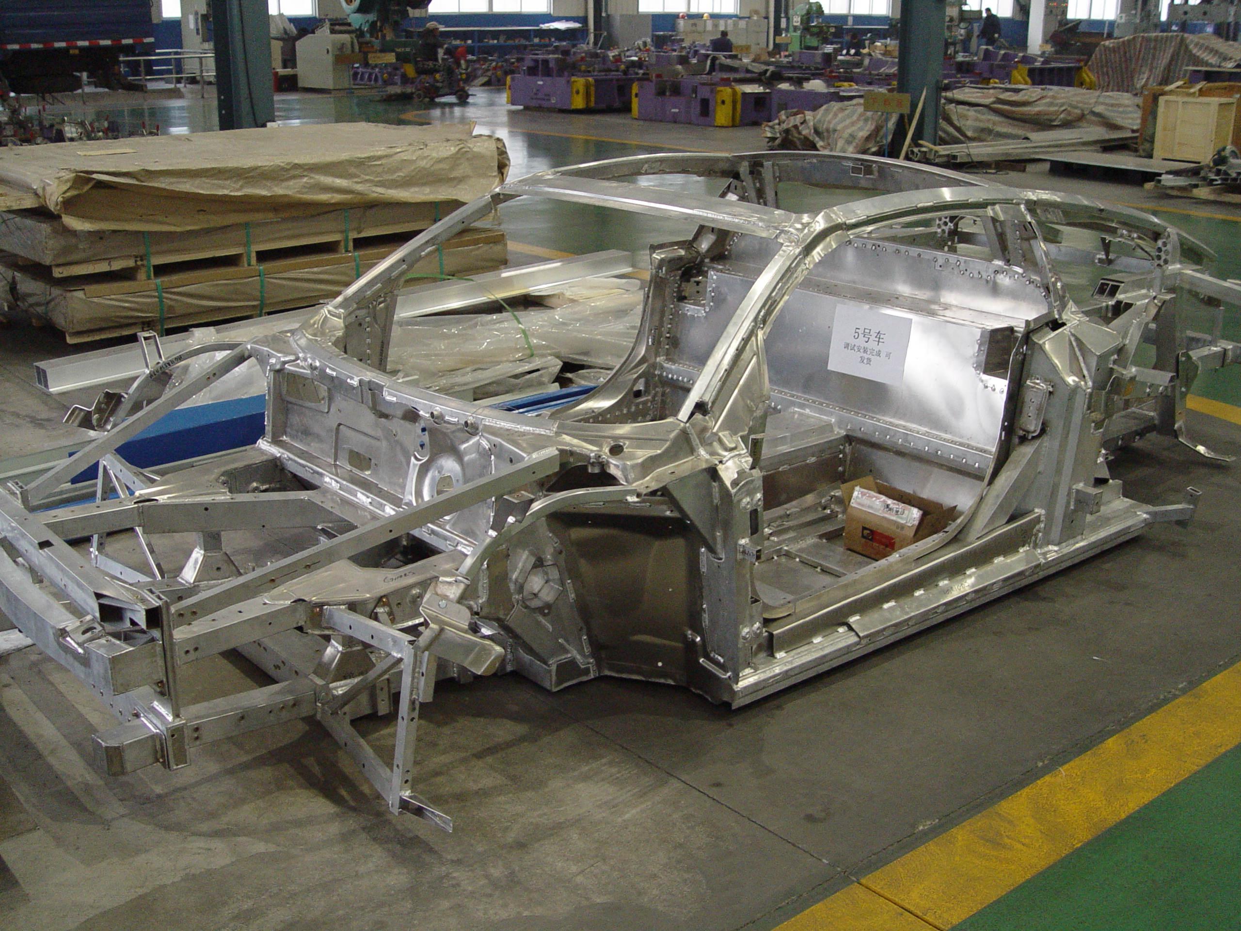 新能源电动铝汽车整体框架
